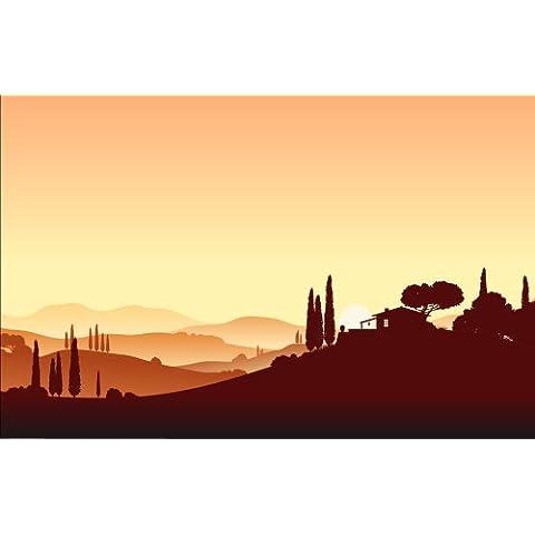 Diseño de paisaje italiano de tela KT177 tamaño: (420 cm x 270 cm) 165,3 x 270 cm papel pintado para pared diseño de mar mediterráneo de Italia