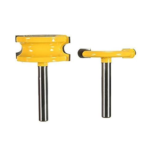 EsportsMJJ 2Pcs 1/4 Zoll Schaft Kanu Flöte Und Perle Router Bits Set Für Holzbearbeitung (Cedar Schritt)
