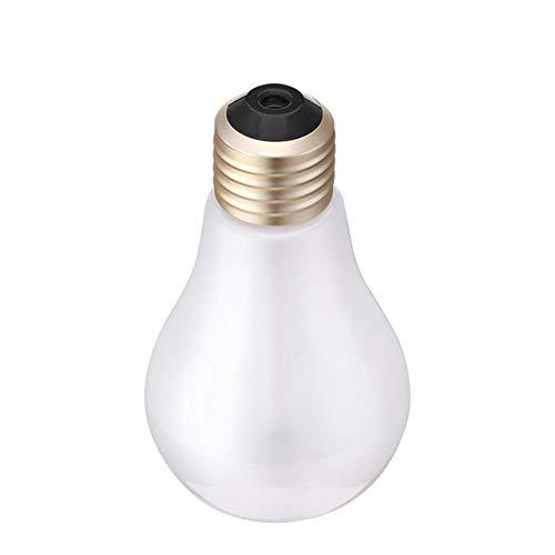 WULIHONG-humidifierUSB humidificador ultrasónico Oficina en casa Mini aromaterapia Colorido LED Bombilla de Noche aromaterapia atomizador Botella CreativaAmarillo