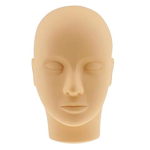 Gazechimp Weich Silikon Kopf für Make-up Schulung Wimpernverlängerung Kosmetik Training Akupunktur Massage Praxis