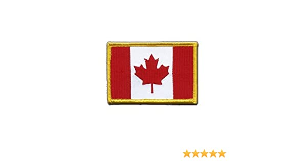 Canada Flag embroidered Iron-On Patch  Amazon.co.uk  Clothing 57619b2f3d74
