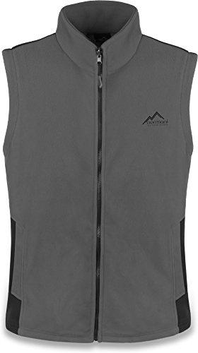 normani Outdoor Sports Herren Fleeceweste mit Reißverschlusstaschen Bodywarmer Farbe Grau Größe L