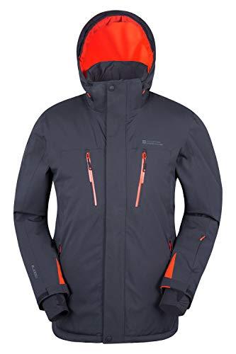 Mountain Warehouse Galactic Extreme Skijacke für Herren - Warm, atmungsaktiv, versiegelte Nähte, Abnehmbarer Schneerock - Ideal zum Skifahren und Snowboarden im Urlaub Dunkelgrau Medium