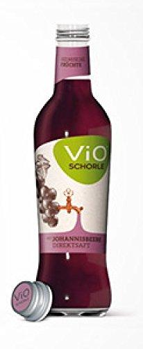 Schorle Flasche (12 Flaschen a 300ml Vio Schorle Schwarze Johannisbeere inclusive 1.80€ MEHRWEG Pfand Glas)
