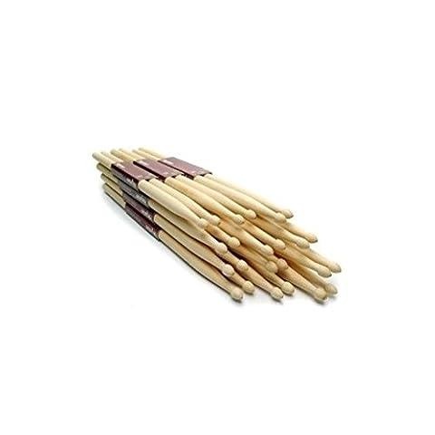12 Drumsticks (6 Paare) 5a Drumsticks hochwertiges Ahornholz [version:x7.5] by DELIAWINTERFEL