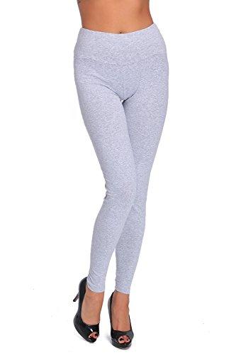 FUTURO FASHION FUTURO FASHION® Hoch taillierte Leggings in voller Länge plus Größen LWP Aschfahl Größe 36