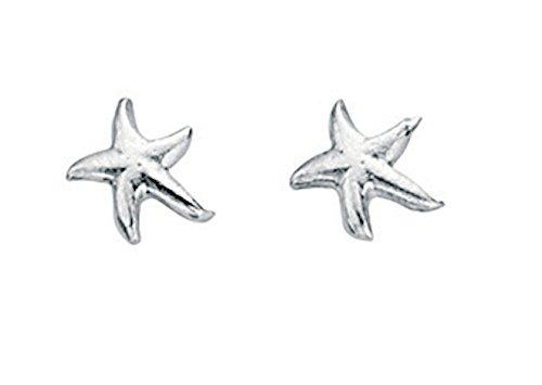 TF kleine, niedliche Seestern-Ohrstecker, Sterling Silber