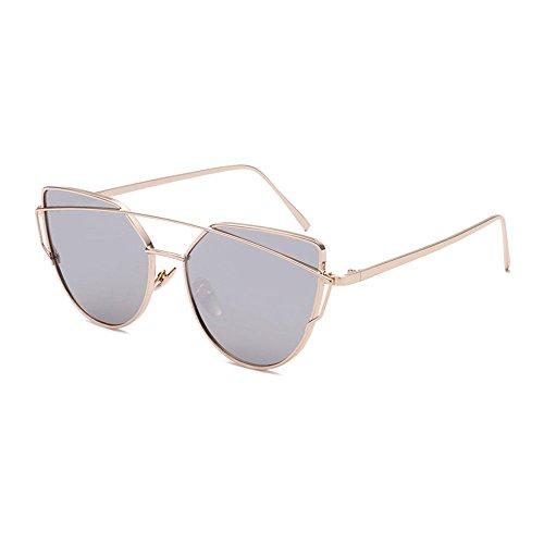 Preisvergleich Produktbild Panelize Sonnenbrille Elastisch Metallrahmen Stabil Getönt Gläser (Silber)