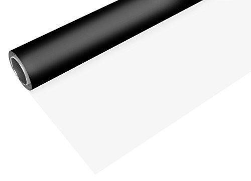 BRESSER Fond vinyle noir/blanc sur rouleau 2x4m