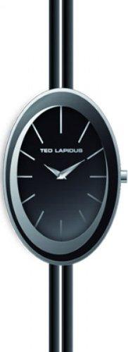 Ted Lapidus B0225RNIN - Reloj analógico de cuarzo para mujer con correa de piel, color negro