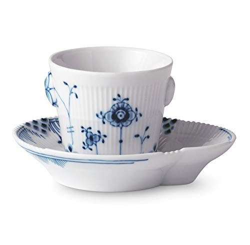 Royal Copenhagen - Blue Elements - Espresso Tasse und Untertasse - Porzellan - 9cl - Royal Copenhagen Elements