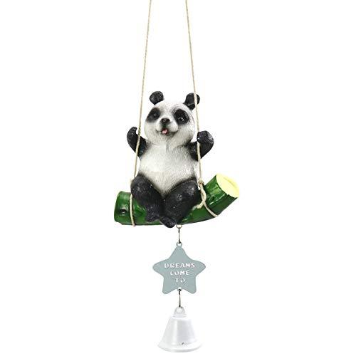 Yililay Panda Wind Chime Schwingen Tier Wind Bell Harz hängende Verzierung Spieluhr Fensterdekoration -