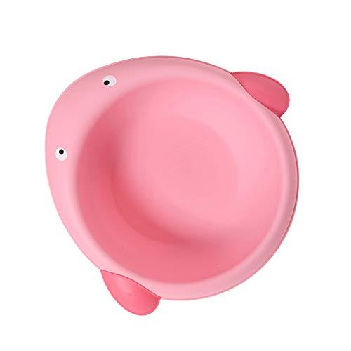 D DOLITY Waschschüssel Baby tragbares Waschbecken Plastik - Wal rosa