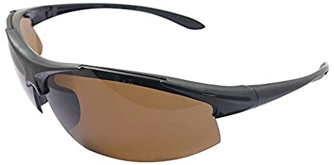 Safety Glasses Commandos Black Frame Brown Smoke Polarized Lens 18617 by ERB