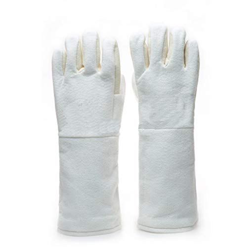 CZTC 300 Grad Hochtemperaturhandschuhe Isolierte Verbrühschutzhandschuhe, Ofenbacken Fünf-Finger-Baumwollhandschuhe