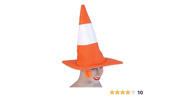 Orange et Blanc trafic Cône ROBE FANTAISIE CHAPEAU