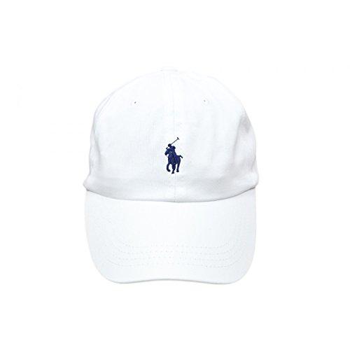 polo-ralph-lauren-base-cap-mutze-baseball-tennis-golf-weiss-blaues-kleines-pony