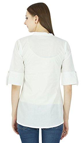 Boho Dress Top Wear Solide Casual Tunique Vêtements Pour Summer Blanc