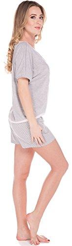 Italian Fashion IF Pyjama Femme Lorin 0227 Melange/Melange