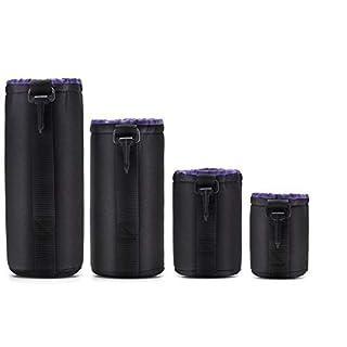 iUcar Neopren DSLR Camera Lens Pouch Schutz Tasche Set 4 Pack von Altura Photo - schwarz