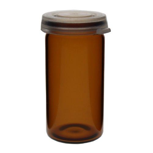 15 x Tablettengläser 10 ml - Farbe: Braun - mit Schnappdeckel / Tablettenglas / Rollrand / Rollrandglas / Schnappdeckelglas / für allgemeine Aufbewahrungszwecke, Proben, Pulver, Schüssler-Salzen, Tabletten, Globuli oder ähnliche Stoffe