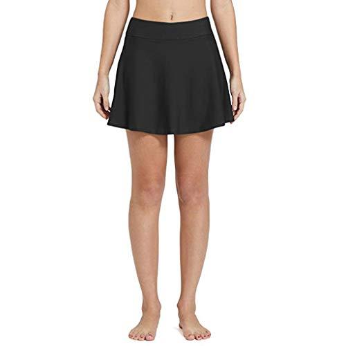 Pingtr - Damen Hohe Taille Hosen Tankini Rock Bademode,Frauen Bikini Bottom Tankini Baderock Plussize Short Beach Dress Badehosen (Für Rock-bademode Frauen)