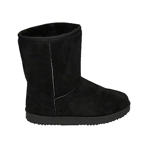 Damen Stiefeletten Schnee Stiefel Boots Flache Schlupfstiefel Warm Gefüttert Winter Schuhe 783 (41,