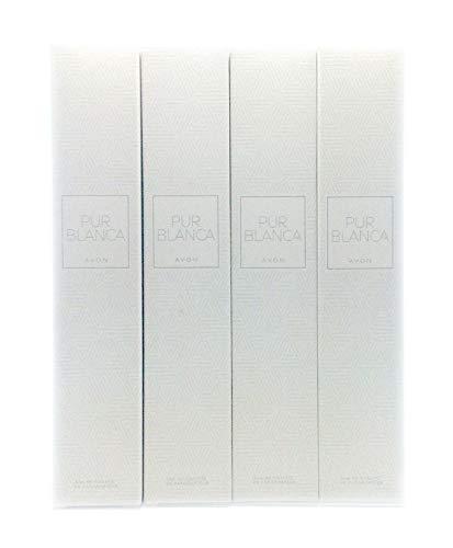 4 x Avon Pur Blanca Eau de Toilette Para Mujer 50ml 4 unidades