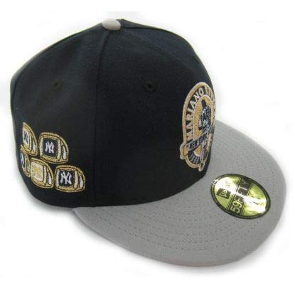 New York Yankees Mariano Rivera Retirement WS Rings 59FIFTY Fitted Cap by New Era Size 7 1/8 -