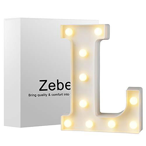 Zebery LED-Lichterkette Buchstaben Alphabet Festzelt Dekoratives Licht bis Schild batteriebetrieben für Party Hochzeit Empfänge Holiday Home & Bad Brautschmuck Bar Decor 8.86