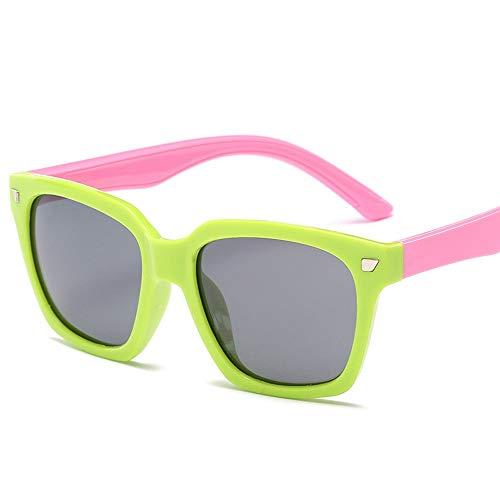 Kids Kleinkinder Jungen und Mädchen Kids Flexible Rubber Sonnenbrille-UV-Schutz und polarisierte Linsen für Brille (Color : Rosa, Size : Kostenlos)