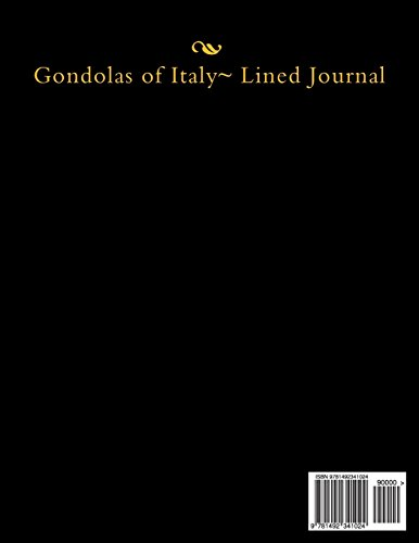 Gondolas of Italy~ Lined Journal (Soli Deo Gloria)