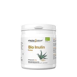 effective nature Bio Inulin Pulver, hochdosiertes, 100% reines Inulin in Bio-Qualität, Zur Stimulierung von Darmbakterien, klassischer Begleiter einer Darmkur, Darmreinigung & Darmsanierung, 450 g