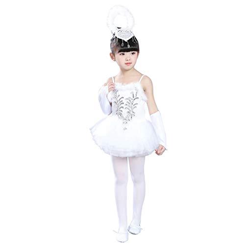 Daytwork Kinder Ballett Kostüme - Mädchen Sling Little Swan Tanz Kostüm Pailletten Tutu Performance Rock Kleider Pretty (Swan Princess Kostüm)