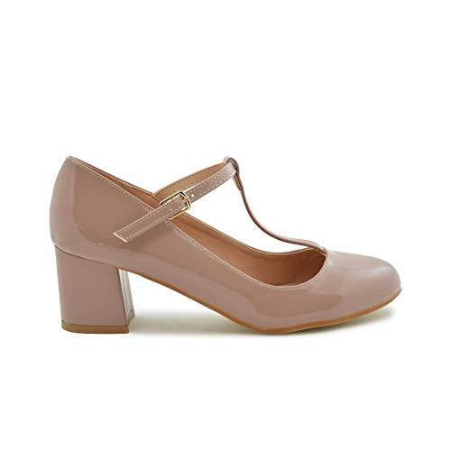 Zapato de Salon Charol Nude