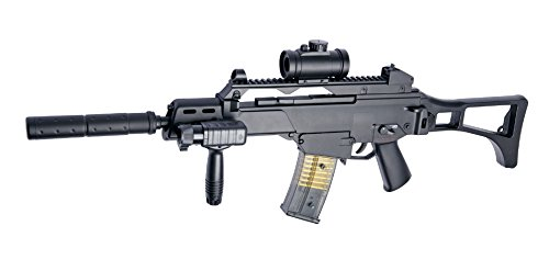 REPLIQUE FUSIL A BILLES G36C ELECTRIQUE SEMI FULL AUTO PACK COMPLET ASG 0.1 JOULE 15257 AIRSOFT