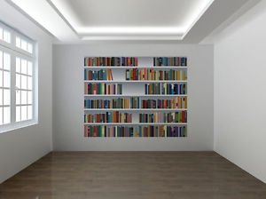 Fake Bookcase 3D Photo Wallpaper Wall Mural Library Room - XL ...