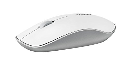 ARION Rapoo compact 3500P 5.8G Wireless Optical Mouse with 1000DPI Ambidextrous and Dust-proof design - White  available at amazon for Rs.3753