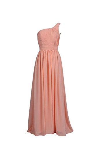 YiYaDawn -  Vestito  - Monospalla - Donna rosa salmone