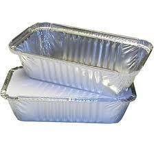 Deli supplies - vaschette di alluminio con coperchio, dimensione 6a, 500 pezzi, per asporto, colore: argento