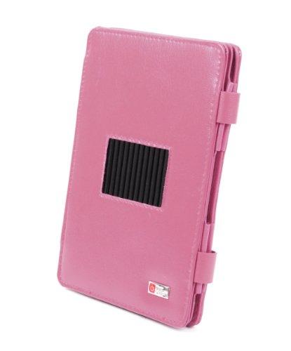 DURAGADGET Leder-Schutzhülle mit integriertem Withstand b resist für das RIM Blackberry Playbook Tablet PC, pink / rosa