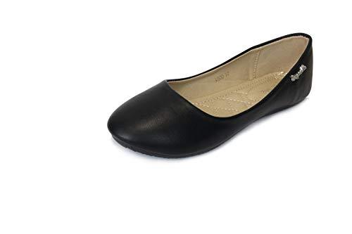 Frentree Klassische Damen Ballerinas Schuhe, Farbe:schwarz, Größe:39