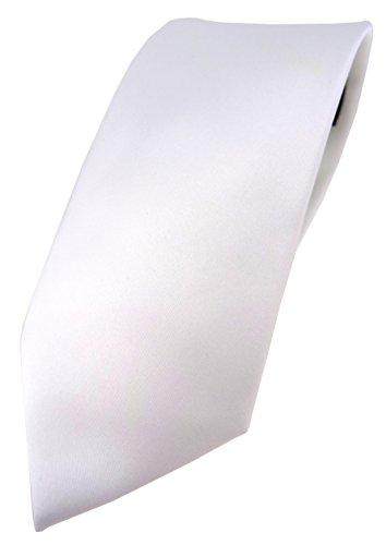 TigerTie Designer Krawatte in weiss einfarbig Uni - Tie Schlips