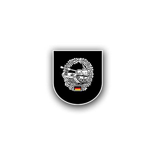 Copytec Aufkleber/Sticker - PzBtl 613 Panzerbataillon Heer Hamburg Leo Bundeswehr Wappen Abzeichen Emblem passend für VW Golf Polo GTI BMW 3er Mercedes Audi Opel Ford (6x7cm)#A1587 - Leo-abzeichen