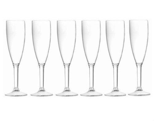Garden Club Teller (HDIUK Premium Champagner-/Proseccoflöten, unzerbrechlich, Polycarbonat, 6 Stück, spülmaschinenfest, hergestellt in Großbritannien)
