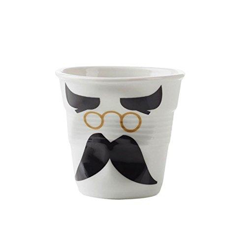 Revol - Gobelet froissé blanc Mr Binocle 8cl