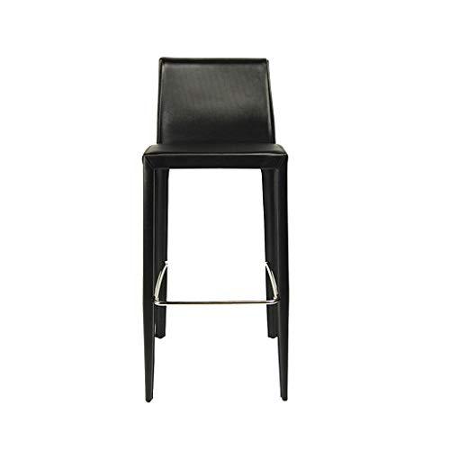 Chencheng bar chair- con schienale seggiolone bar sgabello casalinghi soft case loft sedia chrome poggiapiedi household items (color : black)