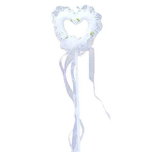 Sloater Hut Fasching Damen Weiß, White Angel Feather Wings Stick und Halo Stirnband für Cosplay Kostüme Party Engel Süß Elegant Sweet Halloween Karneval Hut (White Ranger Kostüm Kinder)