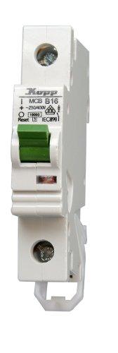 Ge Electric Circuit Breaker (Kopp 720600003 Green Electric Leitungsschutzschalter (MCB) 1-polig, 6 A)