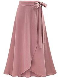 Women's Autumn Winter Knit Thick High Rise Waist Midi A Line Flare Skirts